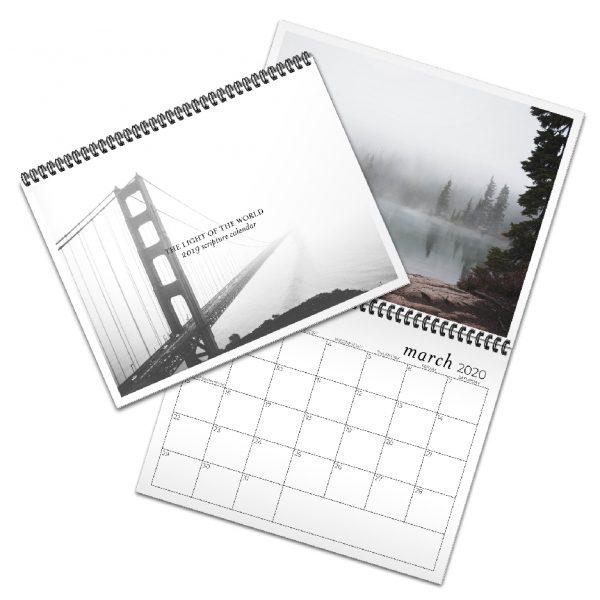 photo calendar with Bible verses