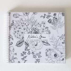 white planner cover