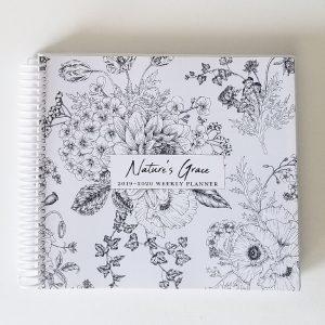 white planner cover