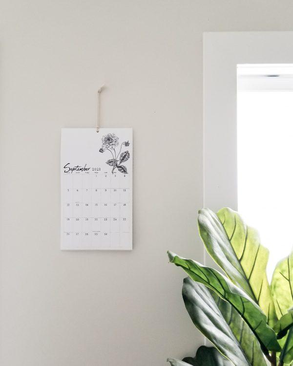modern wall calendar